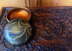 Japanese Lacquer Incense Kogo Box with Fine Maki e Design Meiji Period - 1808995