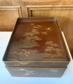 Japanese Lacquer Ryoshibako Document Box Meiji Period - 1585658