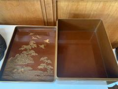 Japanese Lacquer Ryoshibako Document Box Meiji Period - 1585659