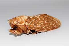 Japanese Netsuke of Cicada Signed - 315713