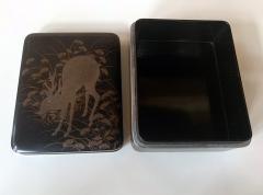 Japanese Rinpa Style Lacquer Box Meiji Period - 1615933