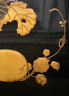 Japanese Rinpa Style Lacquer Ink Stone Box Suzuribako - 2125512