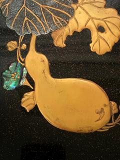 Japanese Rinpa Style Lacquer Ink Stone Box Suzuribako - 2125514