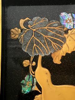 Japanese Rinpa Style Lacquer Ink Stone Box Suzuribako - 2125517