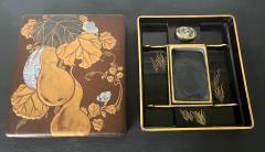 Japanese Rinpa Style Lacquer Ink Stone Box Suzuribako - 2125519
