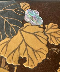 Japanese Rinpa Style Lacquer Ink Stone Box Suzuribako - 2125522