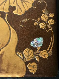 Japanese Rinpa Style Lacquer Ink Stone Box Suzuribako - 2125523