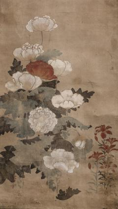 Japanese Scroll of Poppies - 748040