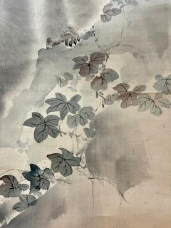 Japanese Silk Scroll Painting of Moneys Edo Period Mori Tetsuzan - 2118829