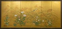 Japanese Six Panel Screen A Garden For All Seasons - 1154991