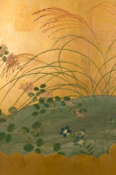 Japanese Six Panel Screen Autumn Into Winter Landscape - 1805130