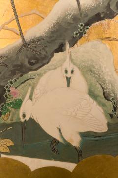Japanese Six Panel Screen Autumn Into Winter Landscape - 1805155