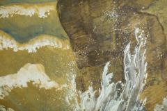 Japanese Six Panel Screen Craggy Coastal Landscape - 735152