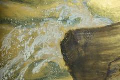 Japanese Six Panel Screen Craggy Coastal Landscape - 735158
