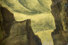 Japanese Six Panel Screen Craggy Coastal Landscape - 735159