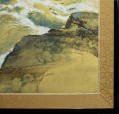 Japanese Six Panel Screen Craggy Coastal Landscape - 735162