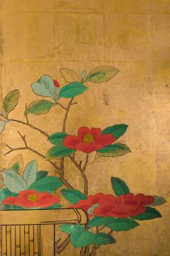 Japanese Six Panel Screen Late Winter Into Early Spring - 1552149