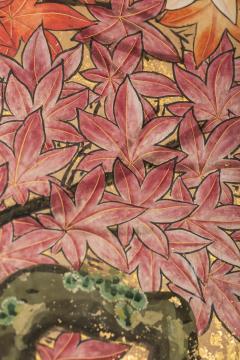 Japanese Six Panel Screen Pheasants In an Autumn Landscape - 1771262