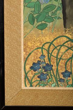 Japanese Six Panel Screen Pheasants In an Autumn Landscape - 1771288