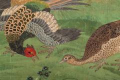 Japanese Six Panel Screen Pheasants In an Autumn Landscape - 1771302