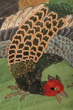 Japanese Six Panel Screen Pheasants In an Autumn Landscape - 1771303