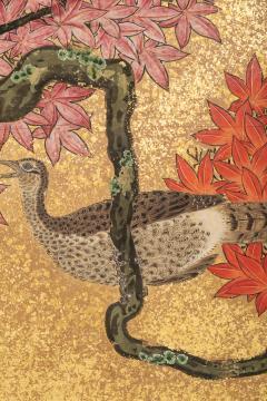 Japanese Six Panel Screen Pheasants In an Autumn Landscape - 1771305