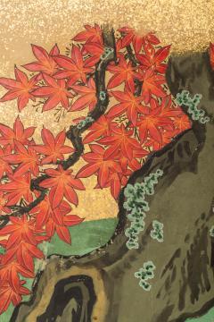 Japanese Six Panel Screen Pheasants In an Autumn Landscape - 1771308