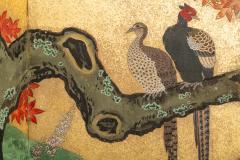 Japanese Six Panel Screen Pheasants In an Autumn Landscape - 1771312