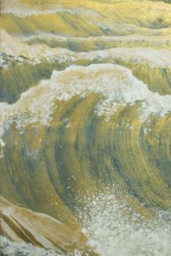 Japanese Six Panel Screen Rocks and Waves in a Coastal Landscape - 735180