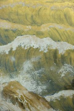 Japanese Six Panel Screen Rocks and Waves in a Coastal Landscape - 735182