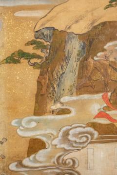 Japanese Six Panel Screen Tosa School Painting of the Battle of Ichinotani - 1964282