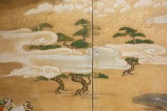Japanese Six Panel Screen Tosa School Painting of the Battle of Yashima - 1964272