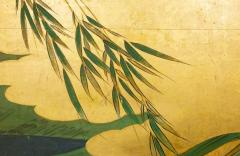 Japanese Six Panel Screen Tropical Garden - 1319994