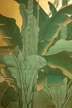 Japanese Six Panel Screen Tropical Garden - 1319995