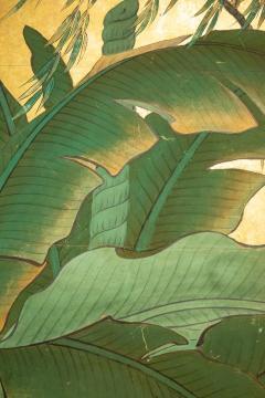 Japanese Six Panel Screen Tropical Garden - 1319996