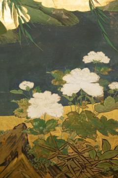 Japanese Six Panel Screen Tropical Garden - 1319997