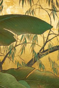 Japanese Six Panel Screen Tropical Garden - 1319998