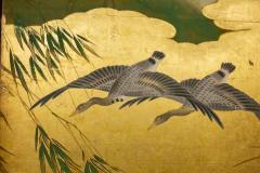 Japanese Six Panel Screen Tropical Garden - 1320001