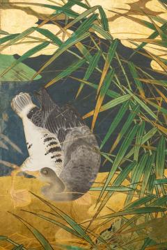 Japanese Six Panel Screen Tropical Garden - 1320012
