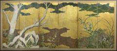 Japanese Six Panel Screen Winter Into Spring - 1319992