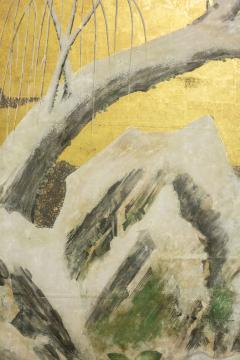 Japanese Six Panel Screen Winter Into Spring - 1320060