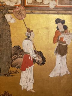 Japanese Six Panel Screen Women of the Court in the Garden - 1571840