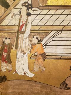 Japanese Six Panel Screen Women of the Court in the Garden - 1571841