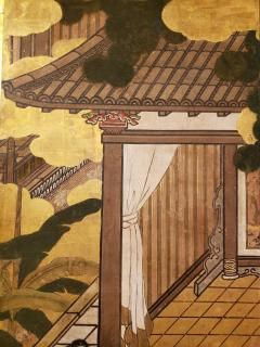 Japanese Six Panel Screen Women of the Court in the Garden - 1571853