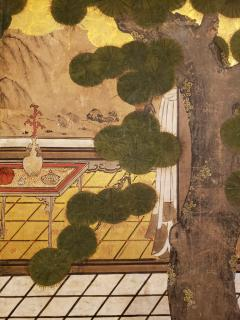Japanese Six Panel Screen Women of the Court in the Garden - 1571857