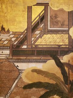 Japanese Six Panel Screen Women of the Court in the Garden - 1571858