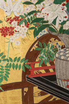 Japanese Six Panel Screens Pair of Festival Carts - 1368649