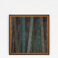 Japanese Two Panel Screen Abstract Bamboo Forest at Night - 405744