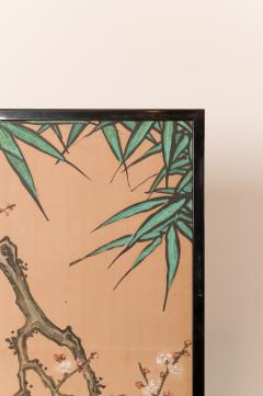 Japanese Two Panel Screen Amorous Cranes and Turtles - 1981530