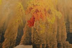 Japanese Two Panel Screen Autumn Colored Canyon in the Mist - 1511602
